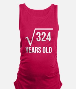 18 Years Old Square Root Maternity Tank Top