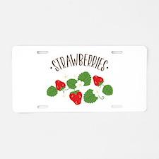Strawberries Aluminum License Plate