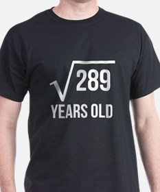 17 Years Old Square Root T-Shirt
