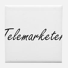 Telemarketer Artistic Job Design Tile Coaster