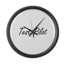 Test Pilot Artistic Job Design Large Wall Clock
