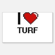 I love Turf digital design Decal
