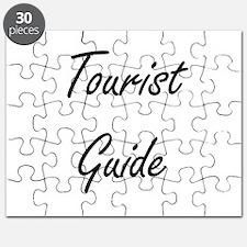 Tourist Guide Artistic Job Design Puzzle