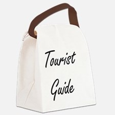 Tourist Guide Artistic Job Design Canvas Lunch Bag