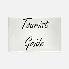 Tourist Guide Artistic Job Design Magnets