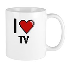 I love Tv digital design Mugs