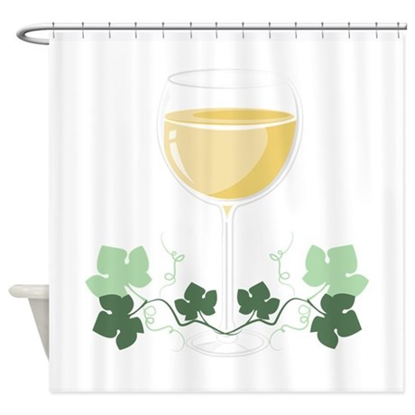 Wine Glass Shower Curtain By Windmill49