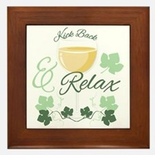 Kick Back And Relax Framed Tile