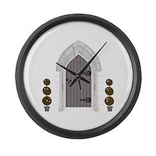 Gothic Door Large Wall Clock