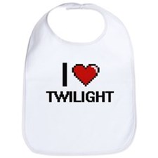 I love Twilight digital design Bib