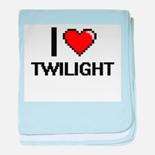 I love Twilight digital design baby blanket
