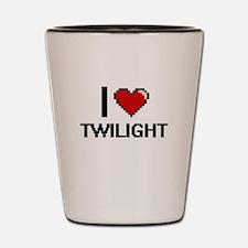 I love Twilight digital design Shot Glass