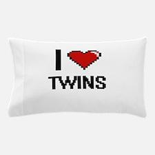 I love Twins digital design Pillow Case