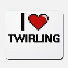I love Twirling digital design Mousepad