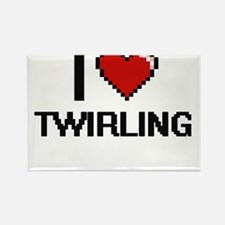 I love Twirling digital design Magnets