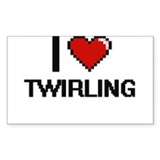 I love Twirling digital design Decal