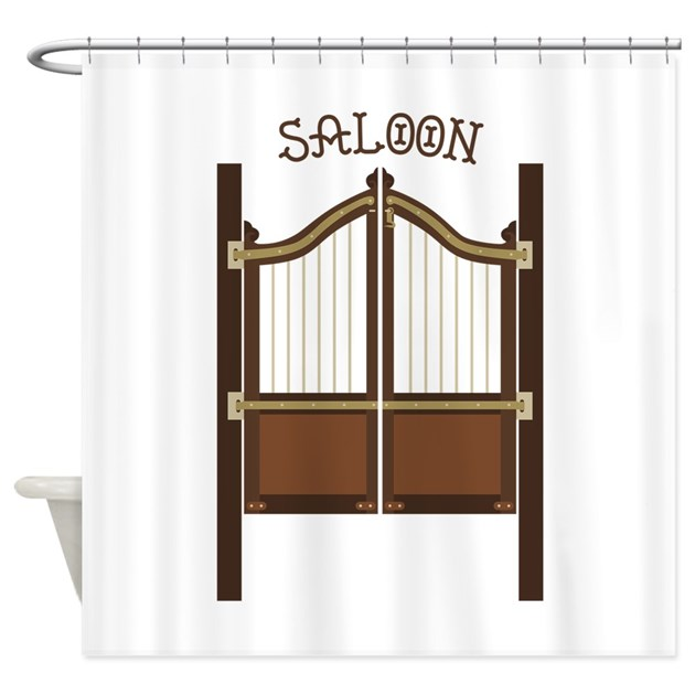 Saloon Doors Shower Curtain By Embroidery26