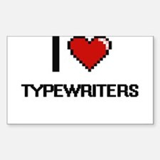 I love Typewriters digital design Decal