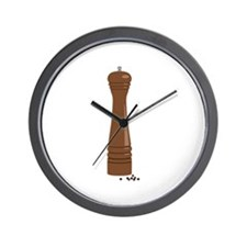 Pepper Mill Wall Clock