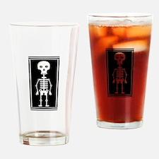 Skeleton Drinking Glass