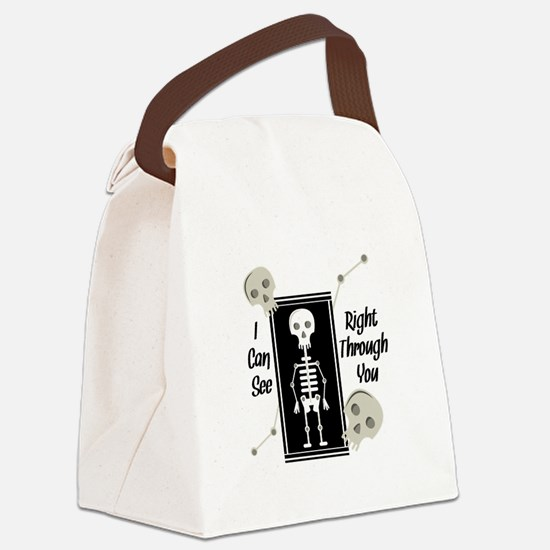 See Through You Canvas Lunch Bag