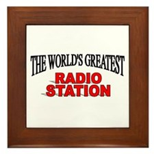 """The World's Greatest Radio Station"" Framed Tile"