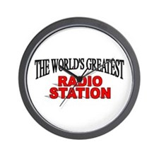 """The World's Greatest Radio Station"" Wall Clock"