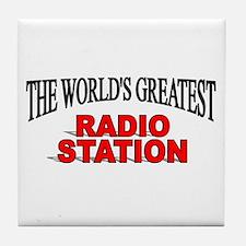 """The World's Greatest Radio Station"" Tile Coaster"