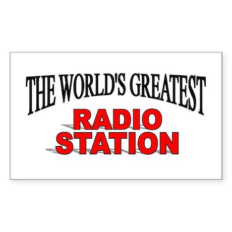 """The World's Greatest Radio Station"" Sticker (Rect"