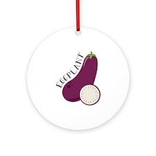 Eggplants Round Ornament