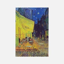 cafe terrace at night Rectangle Magnet