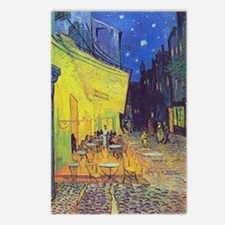 cafe terrace at night Postcards (Package of 8)