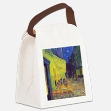 cafe terrace at night Canvas Lunch Bag