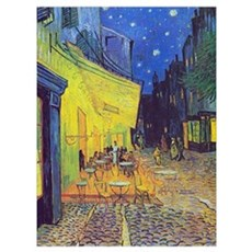 cafe terrace at night Canvas Art