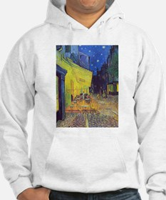 cafe terrace at night Hoodie
