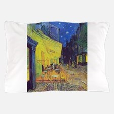 cafe terrace at night Pillow Case