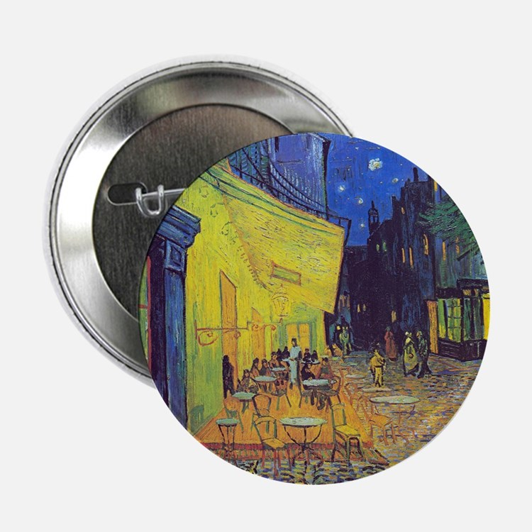 "cafe terrace at night 2.25"" Button (100 pack)"