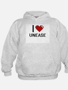 I love Unease digital design Hoodie