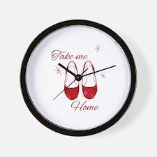 Take Me Home Slippers Wall Clock