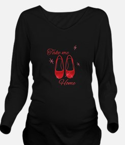 Take Me Home Slippers Long Sleeve Maternity T-Shir