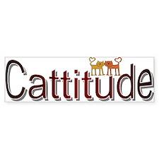 Cattitude Bumper Car Sticker