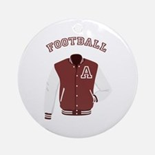 Football Jacket Round Ornament