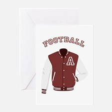 Football Jacket Greeting Cards