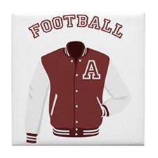 Football Jacket Tile Coaster