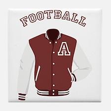 Football Jacket Tile Coaster