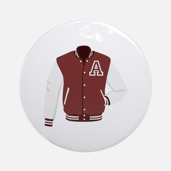 Varsity Jacket Round Ornament