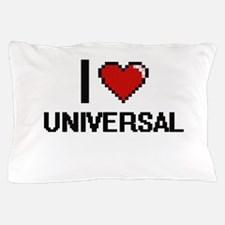 I love Universal digital design Pillow Case