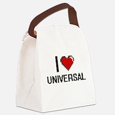 I love Universal digital design Canvas Lunch Bag