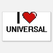 I love Universal digital design Decal