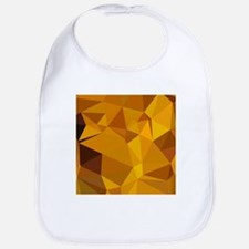 Dark Tangerine Abstract Low Polygon Background Bib